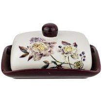 Масленка Пурпур 17x12,5 см Высота 8,5 см - Huachen Ceramics