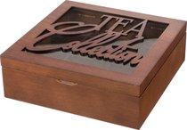 Шкатулка Для Чая Tea Collection Коричневая С 9-Ю Секциями 24x24x8 см - Polite Crafts&Gifts