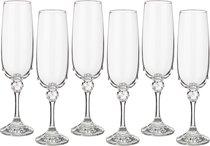 Набор бокалов для шампанского из 6 шт. ДЖУЛИЯ 180 мл ВЫСОТА 21 см (КОР 8Набор.) - Crystalex