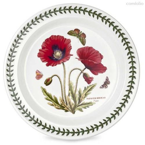 """Тарелка обеденная Portmeirion """"Ботанический сад. Мак"""" 25см - Portmeirion"""