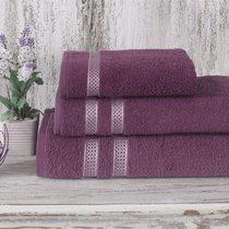 Полотенце махровое Karna Petek, цвет светло-сиреневый, размер 50x100 - Karna (Bilge Tekstil)