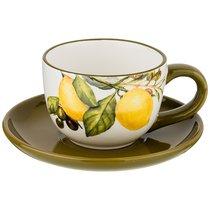 Чайный Набор На 1 Персону Лемон Три 15x15 см Высота 7 см / 220 мл - Huachen Ceramics