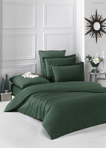 Постельное белье Karna Loft, однотонное, цвет зеленый, размер 2-спальный - Karna (Bilge Tekstil)