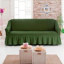 Чехол д/мягкой мебели 1 пр.( 3) JUANNA, цвет оливковый - Meteor Textile
