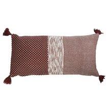 Подушка декоративная бордового цвета крупной вязки из коллекции Ethnic, 30х60 см - Tkano