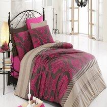 КПБ COTTON LIFE 1,5 сп. (70*70/2 шт.) ELEGANCE, цвет фуксия, 1.5-спальный - Meteor Textile