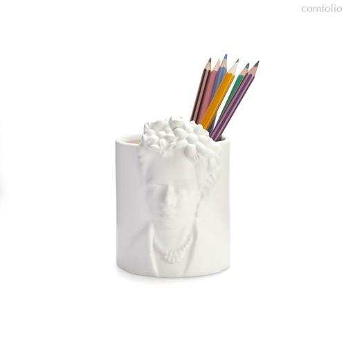 Подставка для канцелярских принадлежностей Frida Kahlo, цвет белый - Balvi