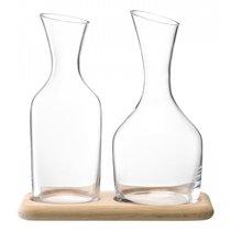 Набор из кувшинов для вина и воды на деревянной подставке 1.2 л/1.4 л - LSA International