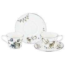 Чайный Набор На 2 Персоны Котики, 4 Пр. 230 мл - Porcelain Manufacturing Factory
