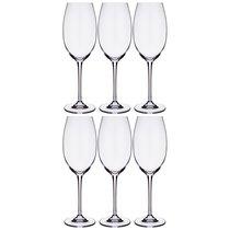 Набор бокалов для вина из 6 шт. ESTA/FULICA 400 мл ВЫСОТА 25 см - Crystalite Bohemia