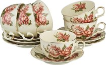 Чайный Набор Lefard Корейская Роза 12 Пр. На 6 Пер. 250 мл