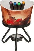 Набор Фондю : Чаша+4 Вилочки+Свеча+Метал Подставка Диаметр 12 см - Hebei Grinding Wheel Factory