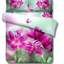 Комплект постельного белья RS-113, цвет зеленый, Евро - Famille