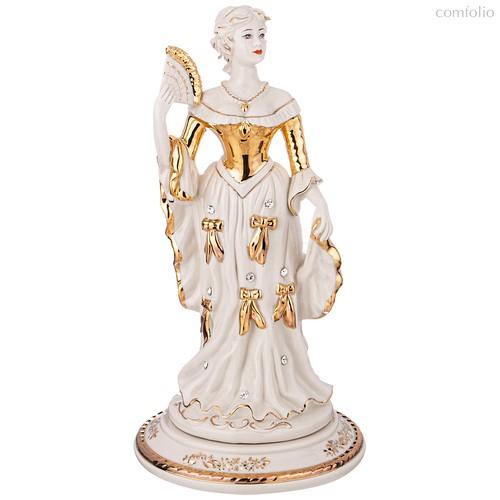 Статуэтка Девушка с Веером Длина 17 см Высота 24 см - Sabadin Vittorio