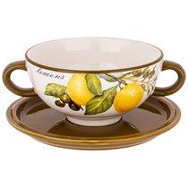 Бульонница Лемон Три 19x14x7 см / 520 мл - Huachen Ceramics
