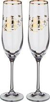 Набор бокалов для шампанского из 2 шт. 190 мл ВЫСОТА=24 СМ. (КОР=1Набор.) - Crystalex