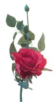 Роза Лимбо с почкой красная 30 см живое прикосновение (36 шт.в упак.) - Top Art Studio