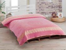 Простынь ROSE велюр жаккард (160х220) KAFA, цвет розовый - Meteor Textile