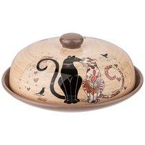 Блюдо Для Блинов С Крышкой Парижские Коты Диаметр 23 см Высота 10 см - Huachen Ceramics
