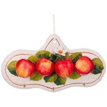 Вешалка Для Кухонных Полотенец Яблоки Длина 28 см. - Ceramiche d'Arte F.L.