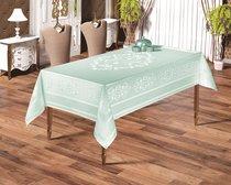 """Скатерть """"KARNA"""" жаккард пано CARAMEL 160х220 см, цвет изумрудный - Bilge Tekstil"""