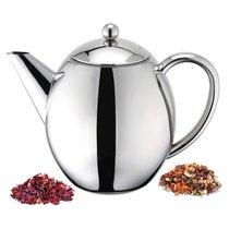 Чайник заварочный с двойными стенками Weis с фильтром 1,2л, 23х16х18см, полированная с