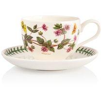 "Чашка для завтрака с блюдцем Portmeirion ""Ботанический сад.Анагаллис"" 280мл - Portmeirion"
