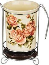 Подставка Под Кухонные Приборы Корейская Роза 10,5x10,5x16 См - Huachen Ceramics