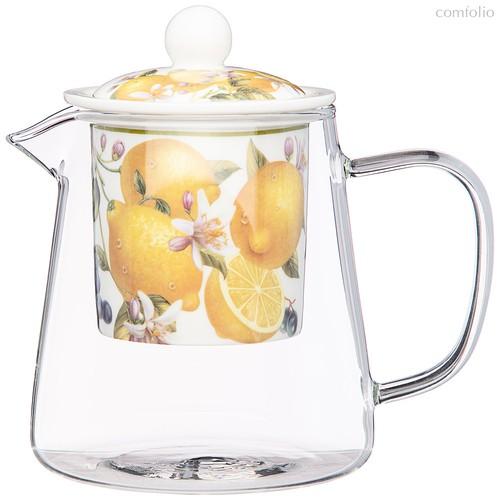 Чайник Стеклянный с Ситом Lefard Фрукты 500 мл - Meizhou Yuesenyuan