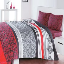 КПБ COTTON LIFE 1,5 сп. (70x70 нав. 2 шт.) ARMADA, цвет красный, 1.5-спальный - Meteor Textile