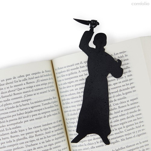 Закладка для книг Psycho, цвет черный - Balvi