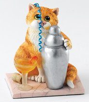 Время коктейля 9 см - Comic Cats - Enesco