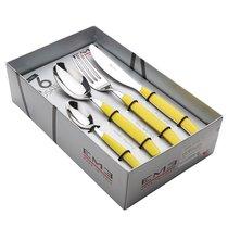 Набор столовых приборов 16пр Кромо Желтый, подар.упаковка, цвет желтый - EME Posaterie