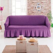 Чехол д/мягкой мебели 1 пр.( 3) JUANNA, цвет лиловый - Meteor Textile