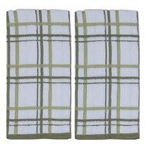 """Набор из 2х полотенец кухонных Kay Dee Designs """"Клетка"""" 40*66см, зеленые, хлопок - Kay Dee Designs"""