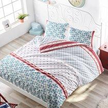 Постельное белье Ranforce Hera, цвет бирюзовый, 1.5-спальный - Altinbasak Tekstil