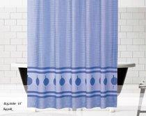Шторы Evdy Drop для ванной, цвет синий, размер 180x200 - Beytug textile