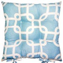 """Подушка на стул """"Тунис"""", 41х41 см, P05-8816/5, цвет голубой - Apolena"""