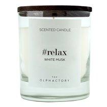 Свеча ароматическая The Olphactory, Relax Black, Белый мускус, 40 ч - Ambientair