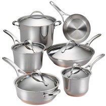 "Набор кухонной посуды из 11 предметов Anolon ""Nouvelle Stainless"" - Anolon"