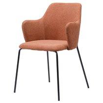 Кресло Dwight, рогожка, коричневое, цвет коричневый - Berg