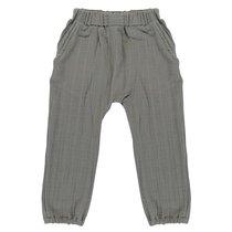 Штаны из хлопкового муслина серого цвета из коллекции Essential 5-6Y - Tkano