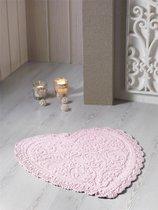 """Коврик для ванной """"MODALIN"""" кружевной SISLEY 60x65 см 1/1, цвет абрикосовый, 60x65 - Bilge Tekstil"""