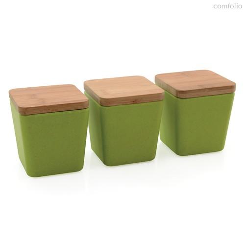 Набор 3пр емкостей для хранения (салатовая) CooknCo, цвет зеленый - BergHOFF