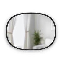 Зеркало овальное Hub 45 х 60 см черное - Umbra