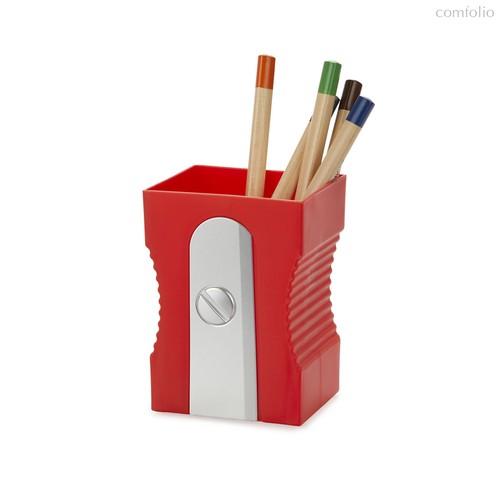 Подставка для канцелярских принадлежностей Sharpener красная, цвет красный - Balvi