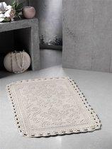"Коврик для ванной ""MODALIN"" кружевной DARIN 55x85 см 1/1, цвет бежевый, 55x85 - Bilge Tekstil"