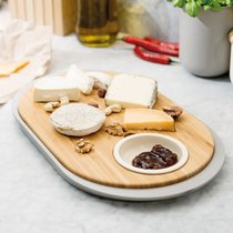 Набор 2пр для острой закуски с разделочной доской-подносом 39*23*2,5см Leo, цвет серый - BergHOFF