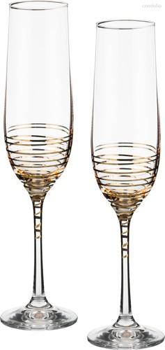 Набор бокалов для шампанского из 2 шт. SPIRAL 190 мл ВЫСОТА=23 СМ. - Crystalex