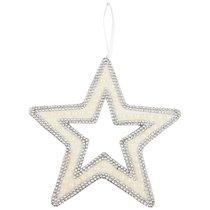 Подвесказвезда с Жемчугом Цвет: Silver Диаметр 30 см - Polite Crafts&Gifts